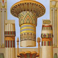 Особенности стиля египетской архитектуры. Египетский ордер. Стилевые особенности египетских колонн