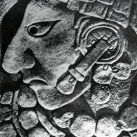 Стела в Бонампаке. Фрагмент. Культура майя