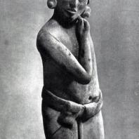 Терракотовая статуэтка юноши. Остров Хайна. Культура майя. Табаско, Музей Вилъяэрмосы