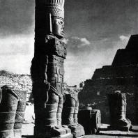 Кариатиды «Храма Утренней звезды» в Толлане. Культура тольтеков
