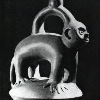 Сосуд в виде животного. Перу. Глина