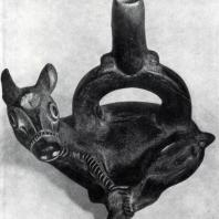 Сосуд в виде связанной ламы. Перу. Глина. Базель, Музей народоведения