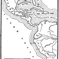 Карта. Древняя Америка