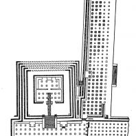 Храм воинов в Чичен-Ице. План