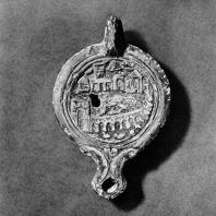 Светильник с видом гавани в Александрии. Терракота. I в.н.э. Национальный музей в Познани, филиал: Замок в Голухове