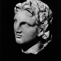Портрет Александра Македонского. Мрамор. II в. до н.э. Греко-римский музей в Александрии
