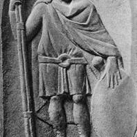 Надгробная стела Аврелия Сабия, солдата второго легиона. Мрамор. II в.н.э. Греко-римский музей в Александрии