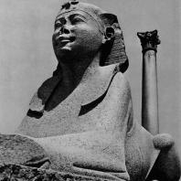 Александрия Египетская. Гранитный сфинкс у так наз. колонны Помпея