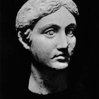Голова женщины (богини?). Мрамор. I в.н.э. Польские раскопки на Ком эль-Дикка