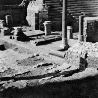 Александрия Египетская. Ком эль-Дикка. Римский театр. Вид с юга. Первый этап реконструкции. IV в.н.э.