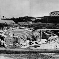 Александрия Египетская. Ком эль-Дикка. Театр после первой фазы реконструкции. Общий вид с северо-западной стороны. IV в.н.э.