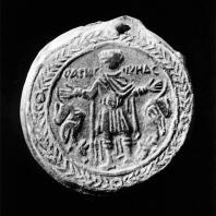 Сосуд для освященной воды, так наз. фляжка св. Менаса. Коптско-византийский период. Национальный музей в Варшаве
