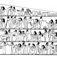 Пир. Роспись из гробницы Рехмира в Фивах