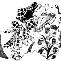 Ветви и цветы. Фрагмент фрески из Агиа Триады
