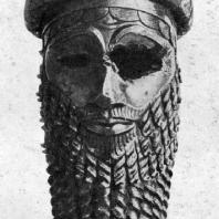 Так называемая голова Саргона Древнего из Ниневии. Медь. 23 в. до н. э. Багдад. Иракский музей