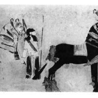 Всадники. Роспись дворца в Тил-Барсибе. 8—7 вв. до н. э.