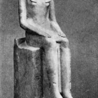Статуя царицы Хатшепсут. Известняк. XVIII династия. Начало 15 в. до н. э. Нью-Йорк. Метрополитен-музей