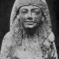 Мужская голова времени Аменхотепа III. Известняк. XVIII династия. Конец 15 в. до н. э. Бирмингам. Музей