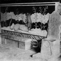 Кносский дворец на Крите. Тронный зал. 16 в. до н. э. Реставрирован