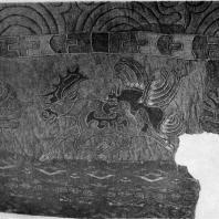 Фрагмент ткани из Ноин-Ула (северная Монголия). 1 в. до н. э. — 1 в. н. э. Ленинград. Эрмитаж