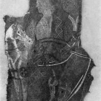 Фрагмент шерстяной ткани из погребения в Ноин-ула (северная Монголия). 1 в. до н. э. — начало 1 в. н. э. Ленинград. Эрмитаж