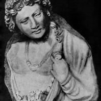 Гений с цветами. Стуковая скульптура из Гадды. 3—4 вв. н. э. Париж. Музей Гимэ