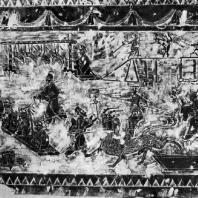 Рельеф из погребения. Провинция Шаньдун. Период Хань. 3 в. до н. э. — 3 в. н. э.