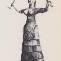 Богиня со змеями. Статуэтка из Кносса, фаянс, ок. 1550 г. до н. э. Фото: Анджей Дзевановский
