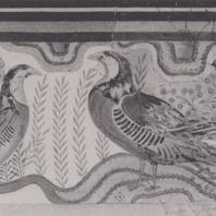 """Куропатки, фрагмент фрески из так называемого """"караван-сарая"""" в Кноссе (Крит). Археологический музей Ираклиона. Фото: Анджей Дзевановский"""