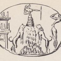 Минойская печать: богиня на вершине горы, Кносс, Крит