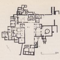 План дворца в Като Закро, Крит