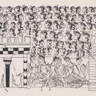 Фреска из дворца в Кноссе, Крит, XVI в. до н. э.