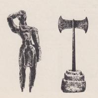 Бронзовая статуэтка. Двойной топор. Минойская культура, Крит