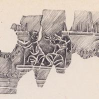 Фрагмент вазы. Минойская культура, Крит
