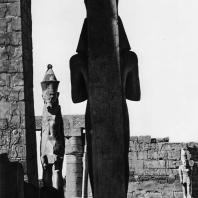 Карнак. Египет. Колосс Рамсеса II. Вид сзади. Фотограф: Анджей Дзевановский