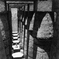 Карнак. Египет. Храм Амона. Большой гипостильный зал. Южная сторона, вид сверху. Фотограф: Анджей Дзевановский