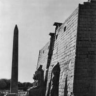 Луксор. Египет. Вид I пилона храма с западной стороны. Фотограф: Анджей Дзевановский