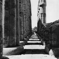 Луксор. Египет. Часть портика второго двора. Фотограф: Анджей Дзевановский