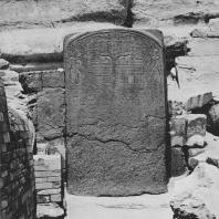 Стела фараона Тотмеса IV, установлена между лапами сфинкса. Красный гранит. Гизе. Египет. Фото: Анджей Дзевановский