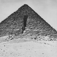Пирамида Микерина в Гизе. Вид с севера Фото: Анджей Дзевановский