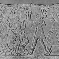 Сцена похорон. Рельеф Саккары. Известняк. XIX династия. Египетский музей в Каире. Фото: Анджей Дзевановский