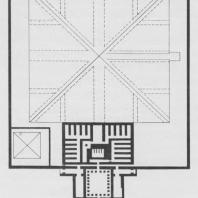 Основной план пирамиды Сенусерта I в Лиште (по Фахри)