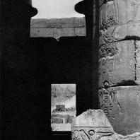 Фивы. Египет. Рамессеум. Фрагмент интерьера храма. Фотограф: Анджей Дзевановский