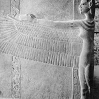 Фивы. Египет. Долина царей. Гробница Тутанхамона. Фрагмент саркофага, кварцит. Фотограф: Анджей Дзевановский